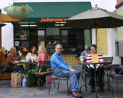 Johnnie's Coffee - Patio dining in beautiful Marina del Rey, CA
